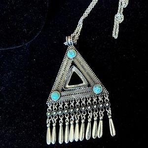 3/$15 Nadine West triangle pendant necklace
